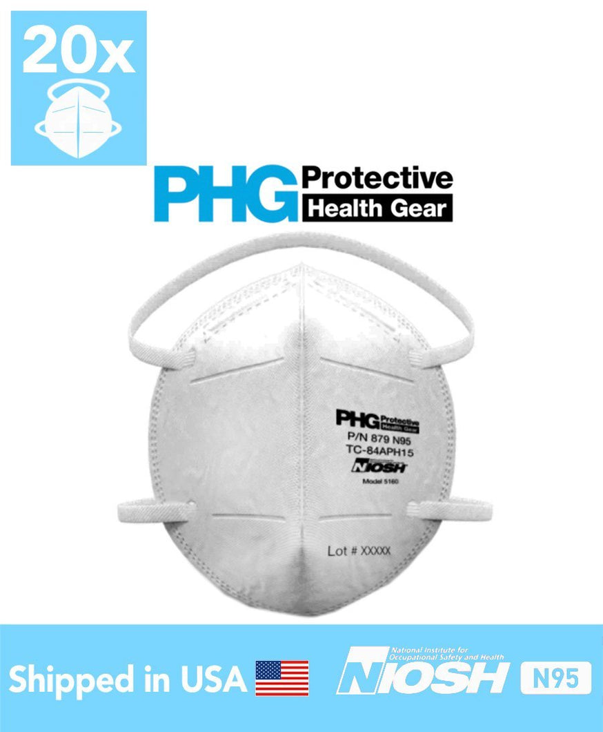 PHG N95 Particulate Respirator (20 Masks) - DMB Supply
