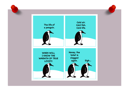 """Life Of A Penguin"" Mouse Mini Print"