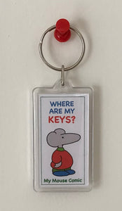 "Mouse Keychain ""Where Are My Keys?"""