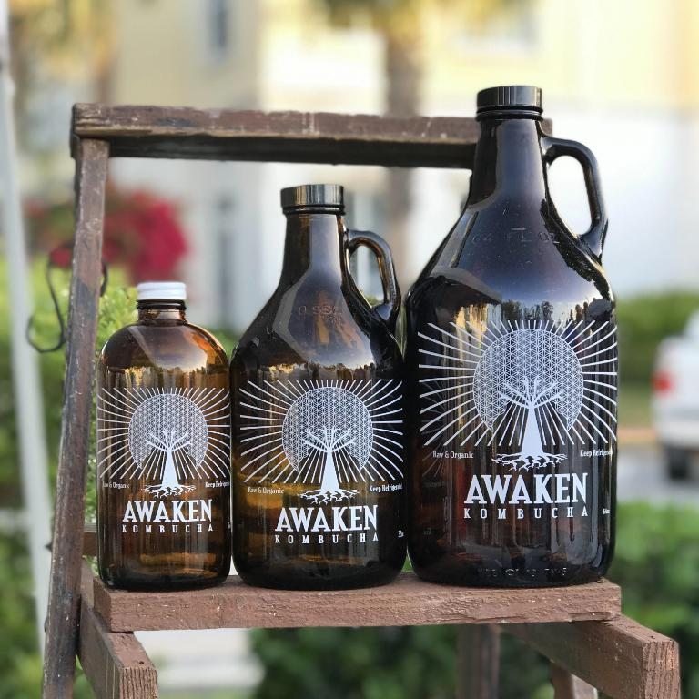 Awaken Kombucha Orange Rosemary