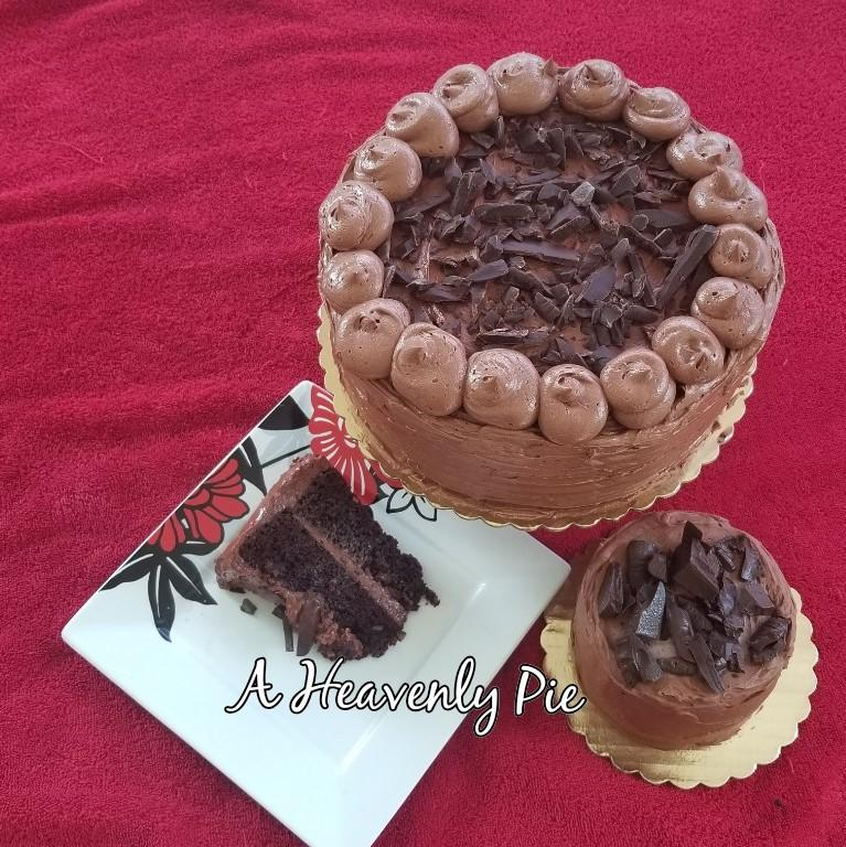 A Heavenly Pie - Chocolate Cake with Coffee Frosting