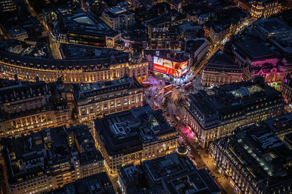 Night aerial view of Piccadilly Circus, London. 373165