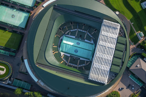 Aerial view of Centre Court, Wimbledon. 383052