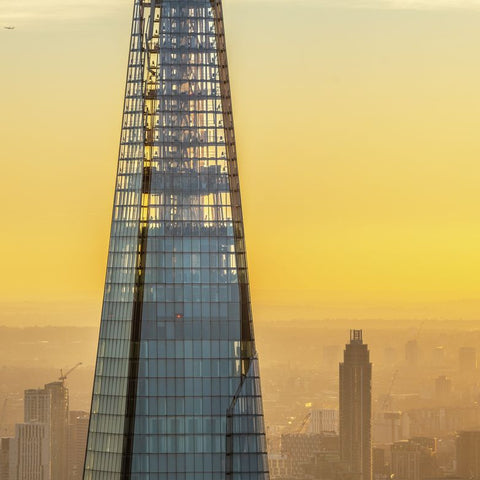 The Shard, sunset aerial view. 323517