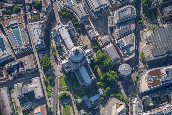 Aerial view of St Paul's Cathedral, London, 361159