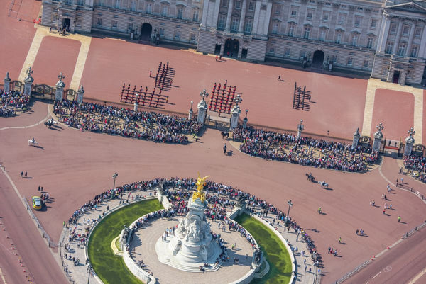 Aerial view of Changing of the guard, Buckingham Palace, London. 293891