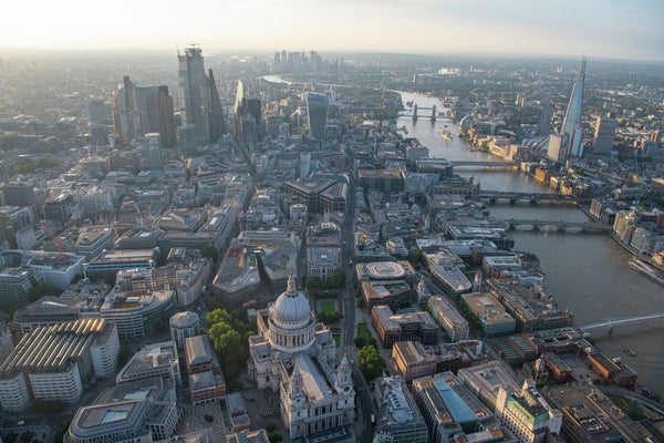 Aerial view of St.Pauls's Cathedral, and City of London, London. 395000