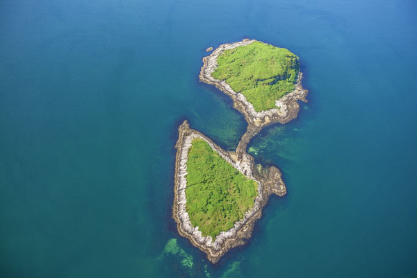 AERIAL VIEW OF ISLAND NEAR LISMORE, SCOTLAND 9096