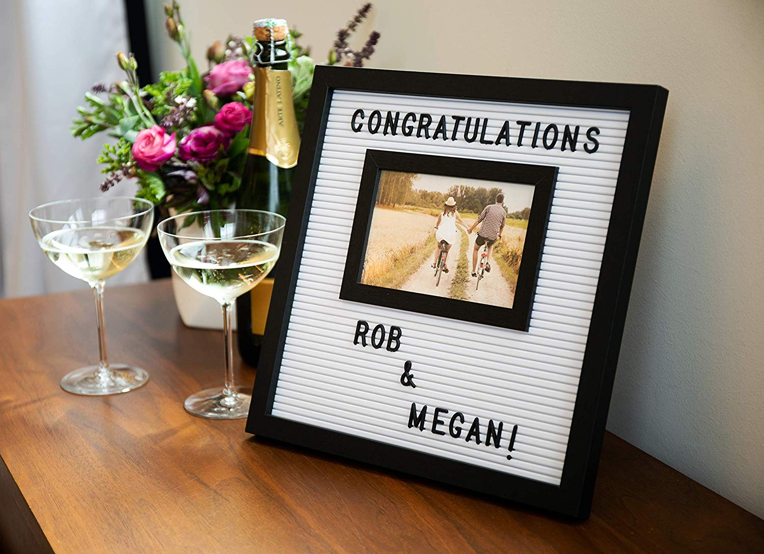 customizable letterboard photo frame
