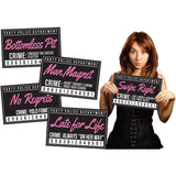Black & Pink Bachelorette Party Mug Shot Signs (20 Pack)