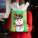 Christmas Characters Gift Bags With Tissue Paper (12 Pack)