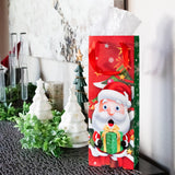 Christmas Characters Wine Gift Bags With Tissue Paper (12 Pack)