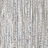 Silver Foil Fringe Curtain Photo Booth Backdrop (2 Pack)