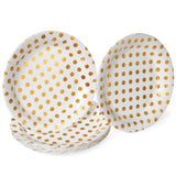 Gold and White Tableware Set (24 Pack)