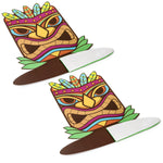 Tiki Statue Hawaiian Pop Up Table Centerpieces (2 Pack)