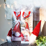 Holiday Tomte Gnomes Wine Gift Bags With Tissue Paper (12 Pack)
