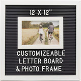 Customizable Letterboard Photo Frame (White/Black)