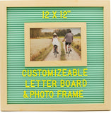 Customizable Letterboard Photo Frame (Wood/Teal)