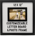 Customizable Letterboard Photo Frame (Black/White)
