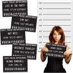 Birthday Party Mug Shot Signs With Backdrop (20 Pack)