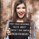 Black & White Bachelorette Party Mug Shot Signs (20 Pack)