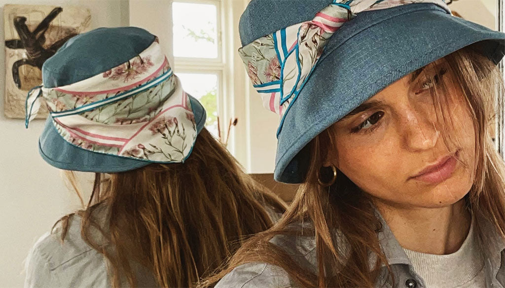 How to style scarf on hat