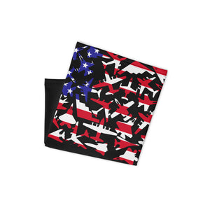 Airplane US Flag Face Wrap