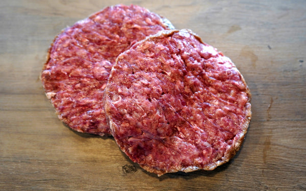 Ground beef patties (2 patties, 1 lb. total)