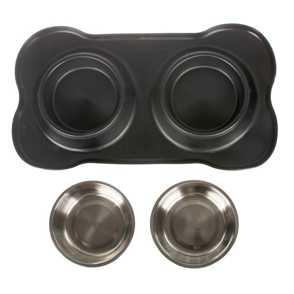 Pet Bowl with Silicone Mat