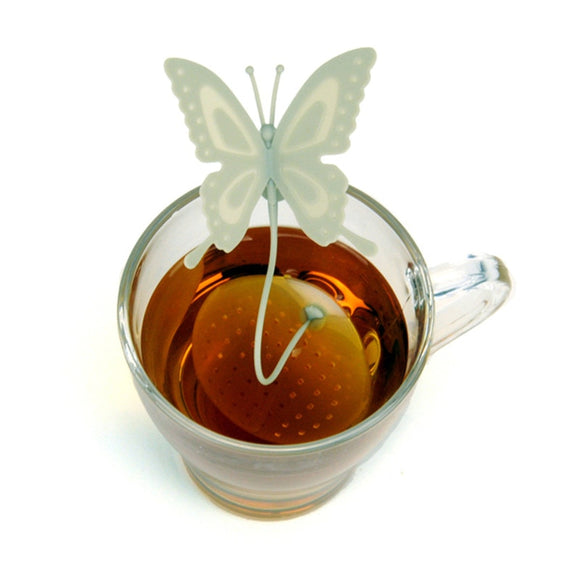 Butterfly Tea Infuser Silicone Loose Leaf Tea Strainer - The Zoo Brew