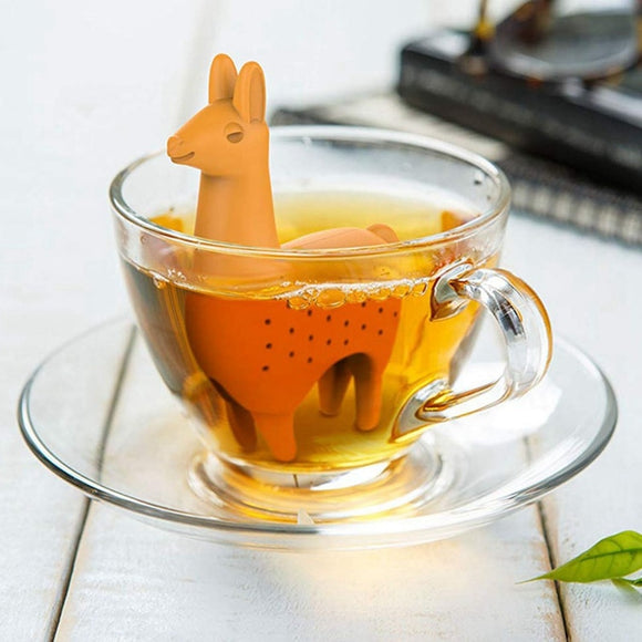Llama Tea Infuser - Silicone Loose Leaf Tea Strainer - The Zoo Brew