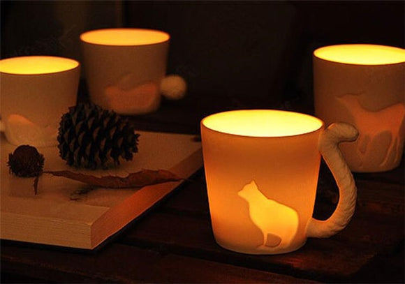 Elegant Animal Candlestick Mugs
