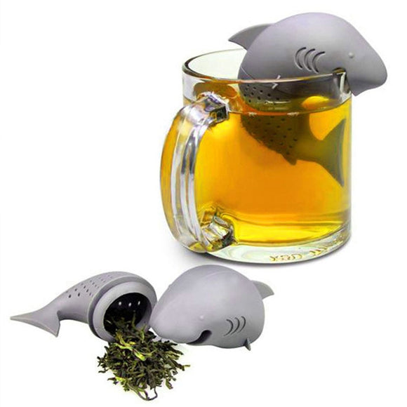 Shark Tea Infuser Silicone Loose Leaf Tea Strainer - The Zoo Brew
