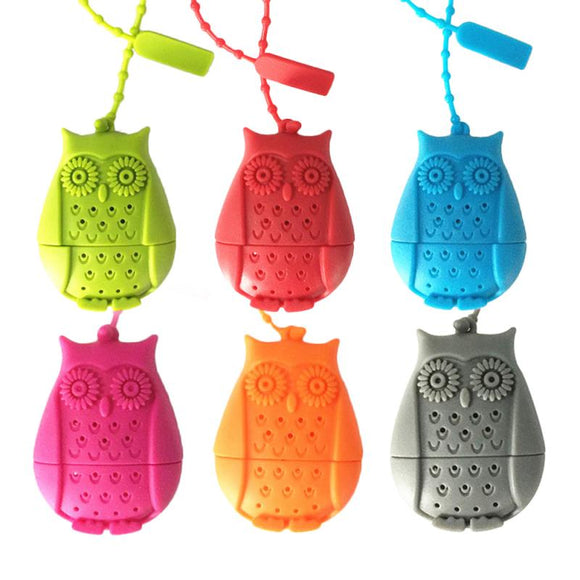 Owl Tea Infuser Silicone Loose Leaf Tea Strainer - The Zoo Brew