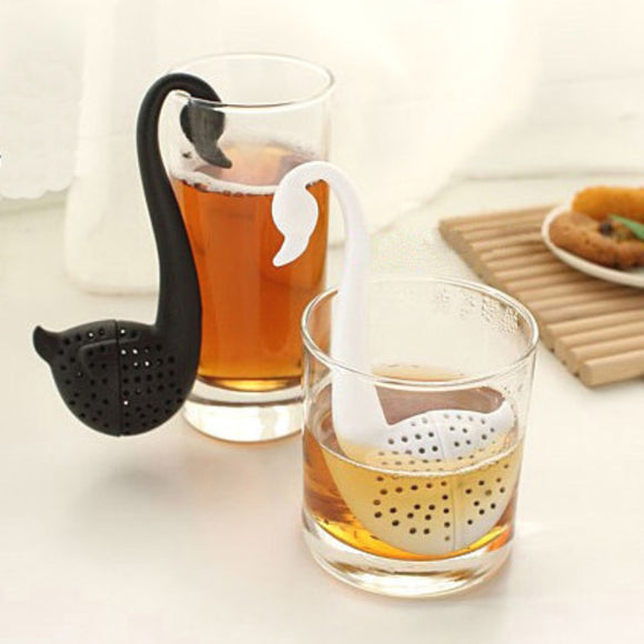 Swan Tea Infuser Silicone Loose Leaf Tea Strainer - The Zoo Brew