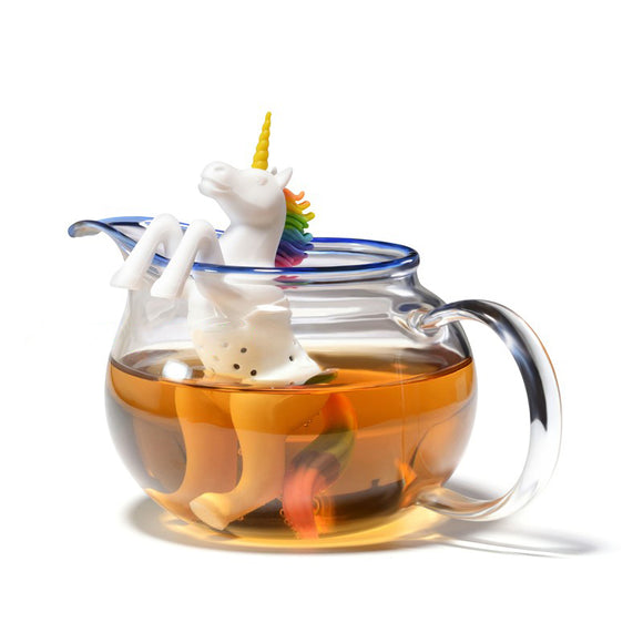 Unicorn Tea Infuser Silicone Loose Leaf Tea Strainer - The Zoo Brew