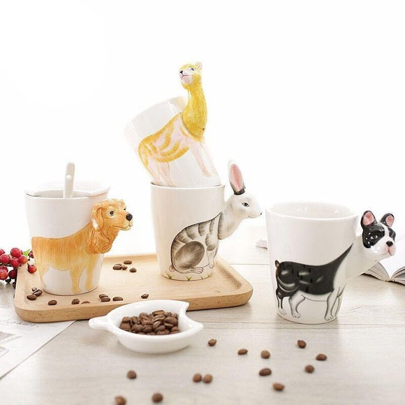 Creative Hand Drawn Animal Mugs - Set 2 - The Zoo Brew