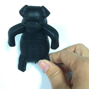 """Boss"" Pug Tea Infuser Silicone Loose Leaf Tea Strainer"