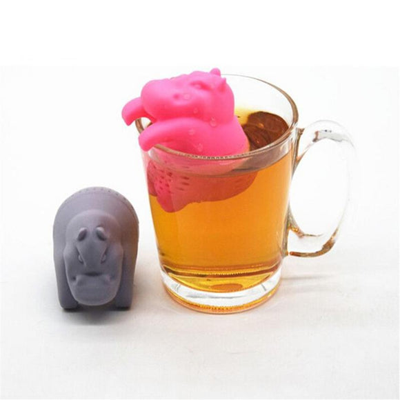 Hippo Tea Infuser Silicone Loose Leaf Tea Strainer