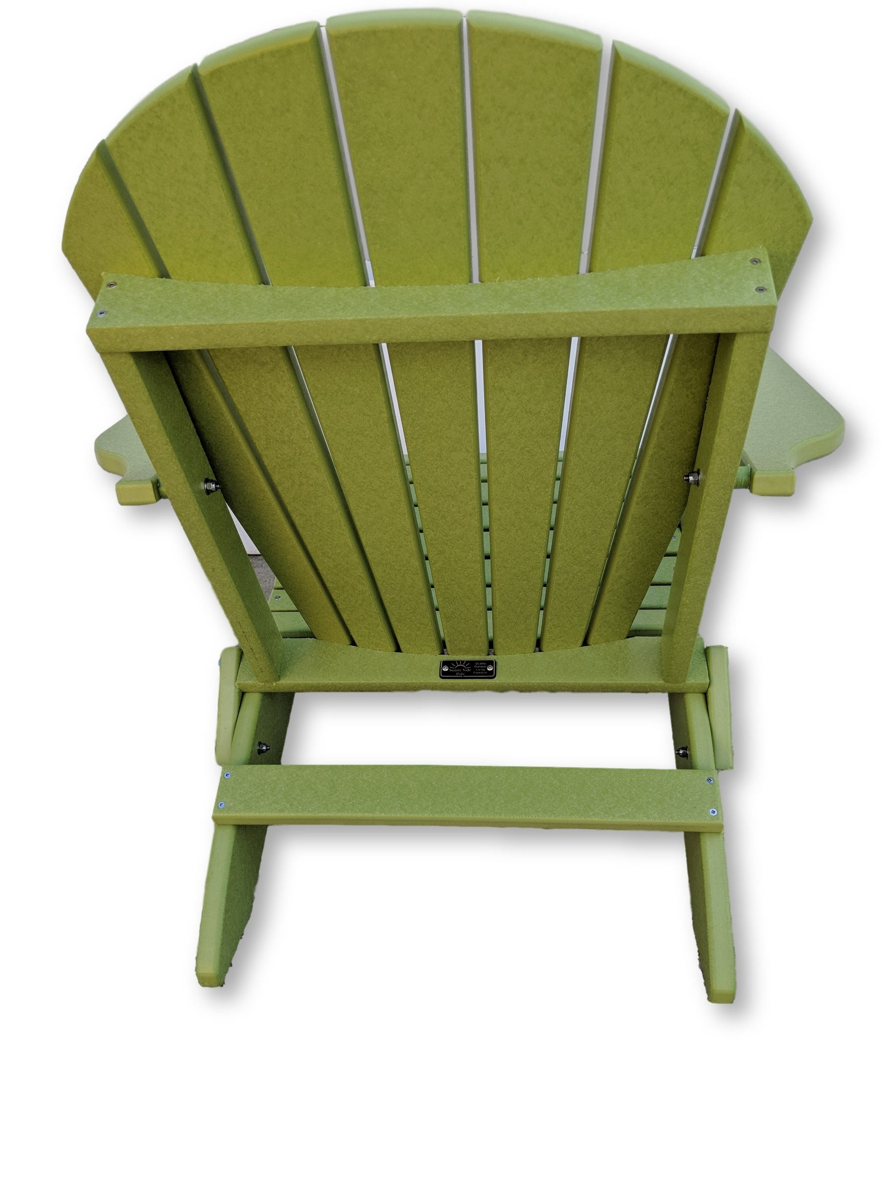 Lime Green Folding Adirondack Chair with Cup Holders