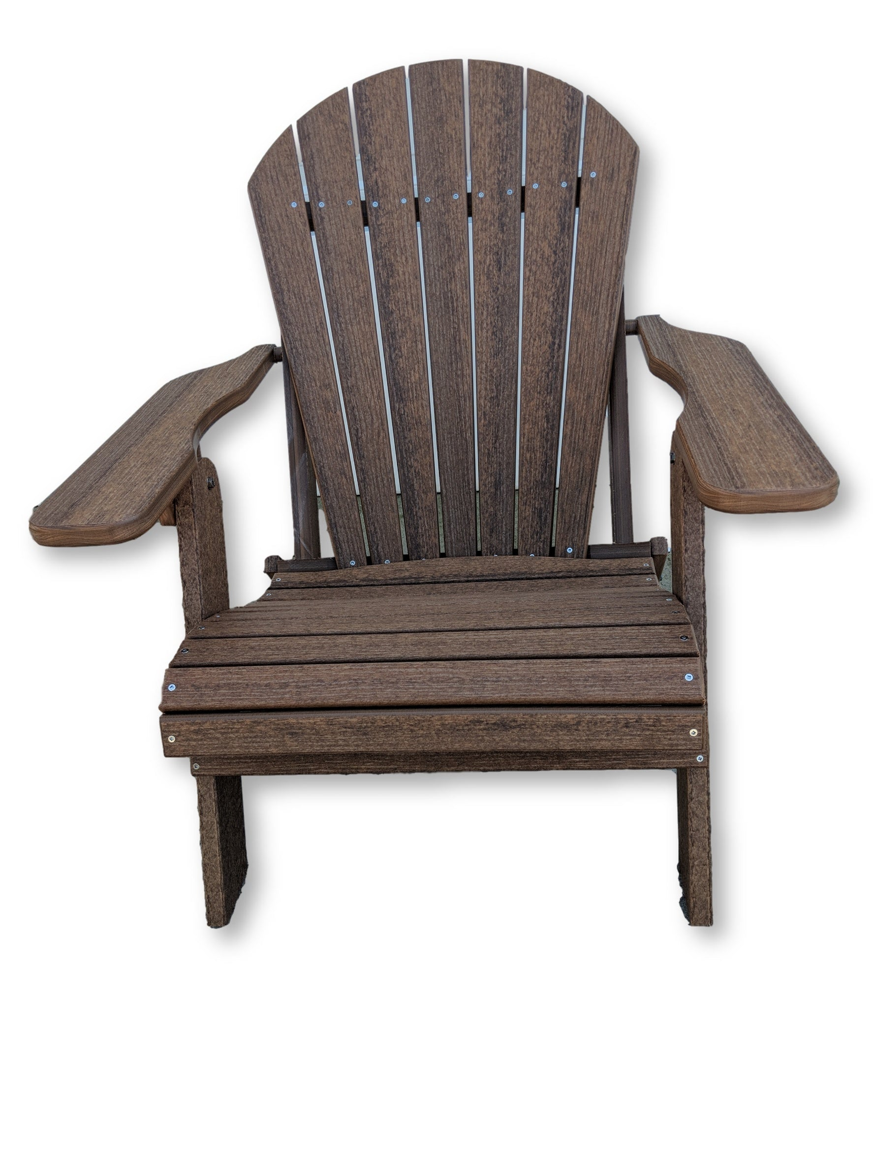 Antique Mahogany Folding Adirondack Chair(No Cup Holders)