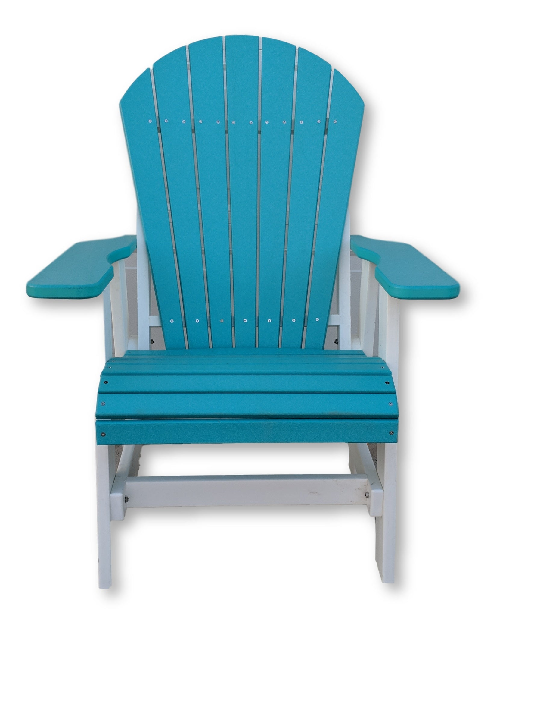 Aruba Blue and White Folding Adirondack Chair(No Cup Holders)
