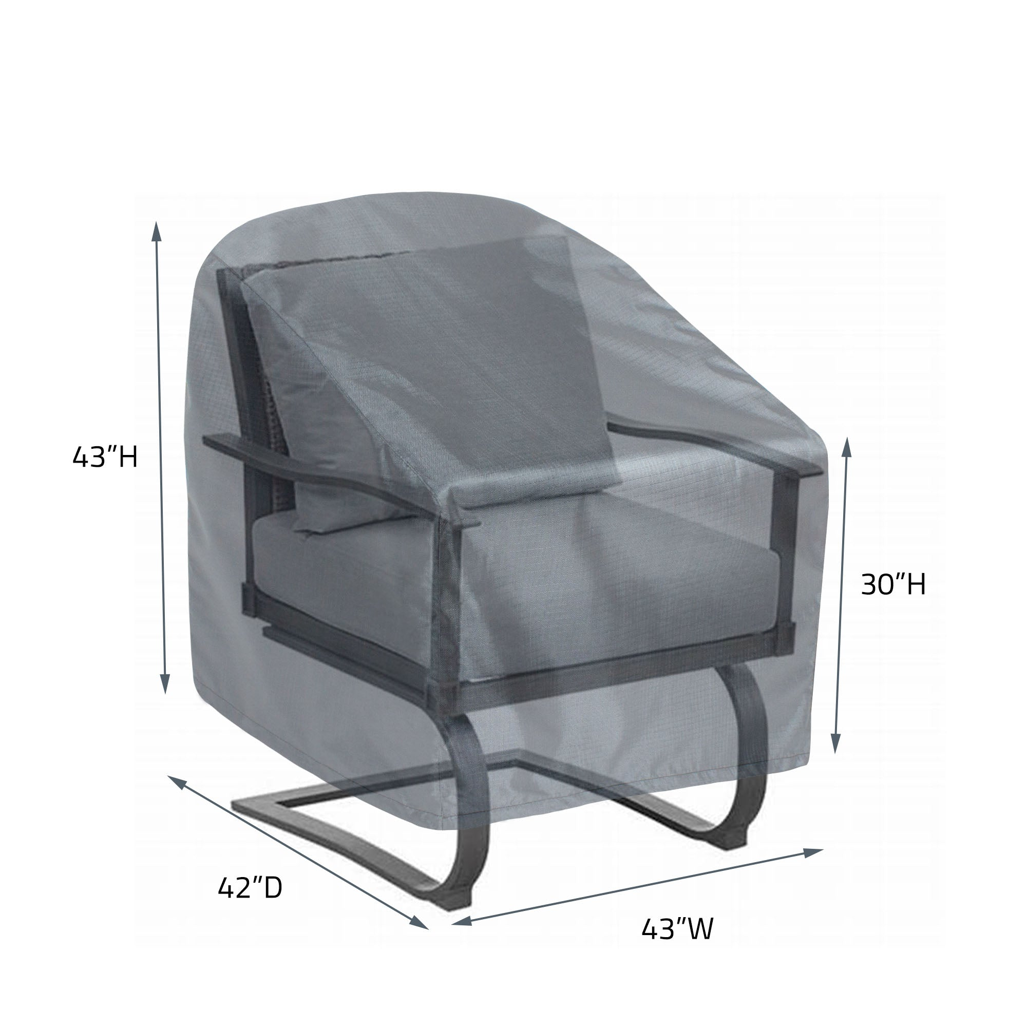 COV-M241 Premium Mercury Cover XL Lounge Chair