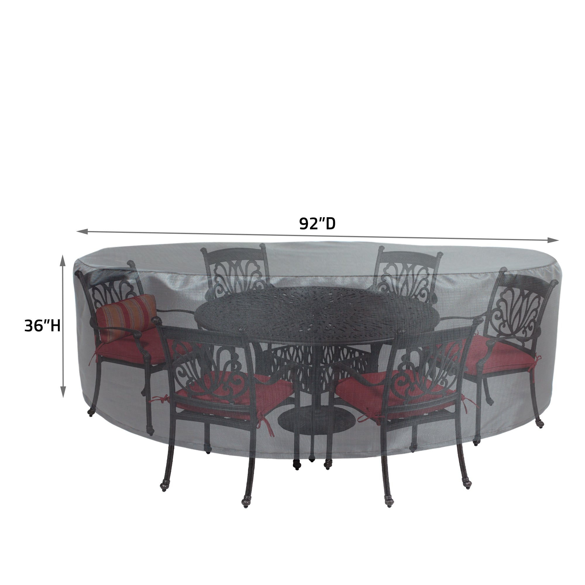 "COV-M571 Premium Mercury Cover 54"" Round Table & Chair"