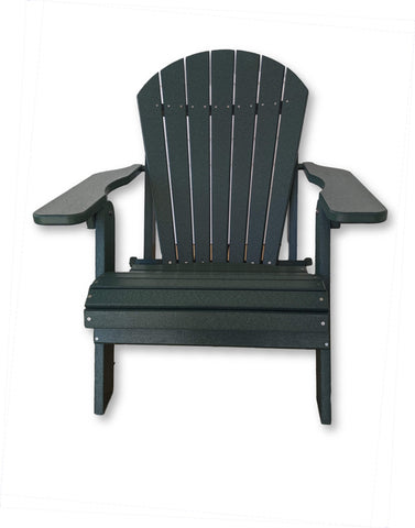 Evergreen Folding Adirondack Chair(No Cup Holders)