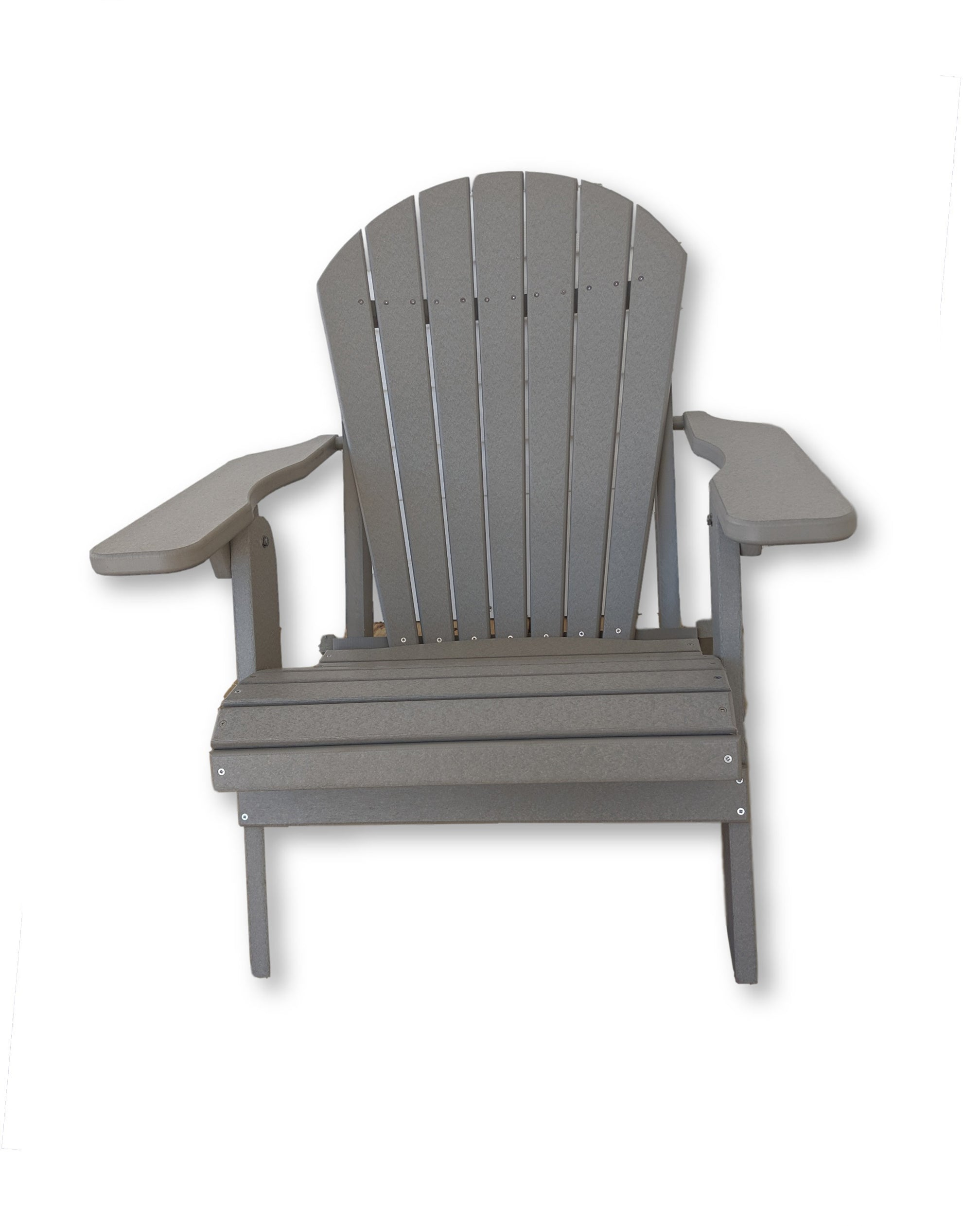 Dove Gray Folding Adirondack Chair(No Cup Holders)