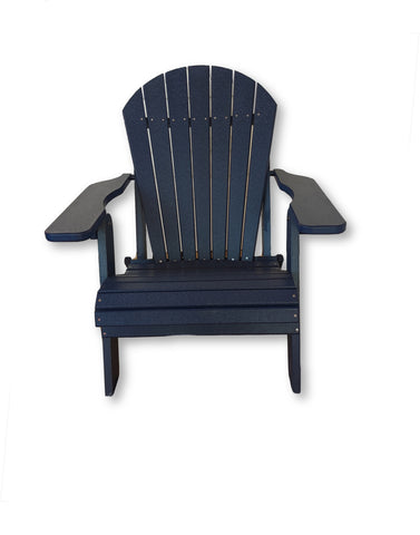 Patriot Blue Folding Adirondack Chair(No Cup Holders)