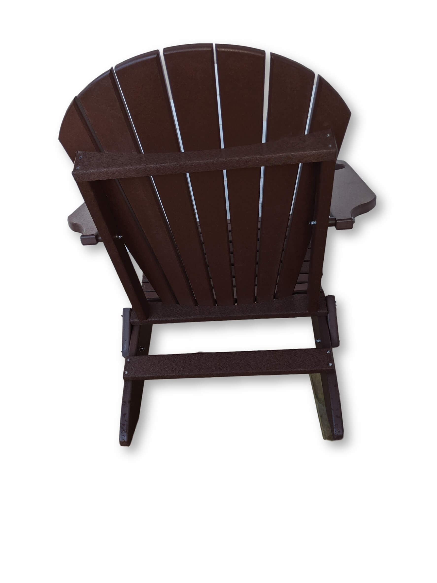 Tudor Brown Folding Adirondack Chair(No Cup Holders)
