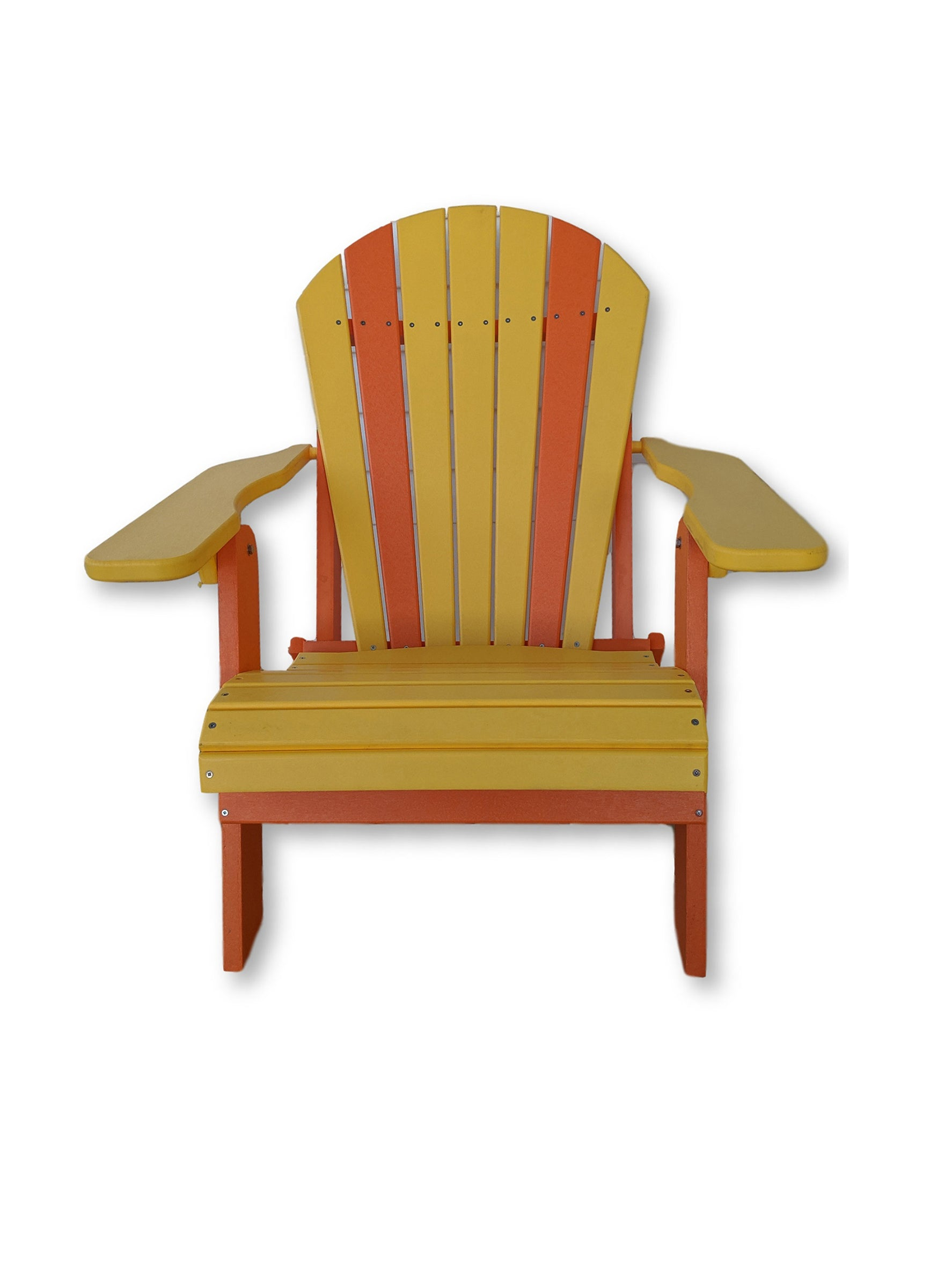 Yellow & Orange Folding Adirondack Chair(No Cup Holders)