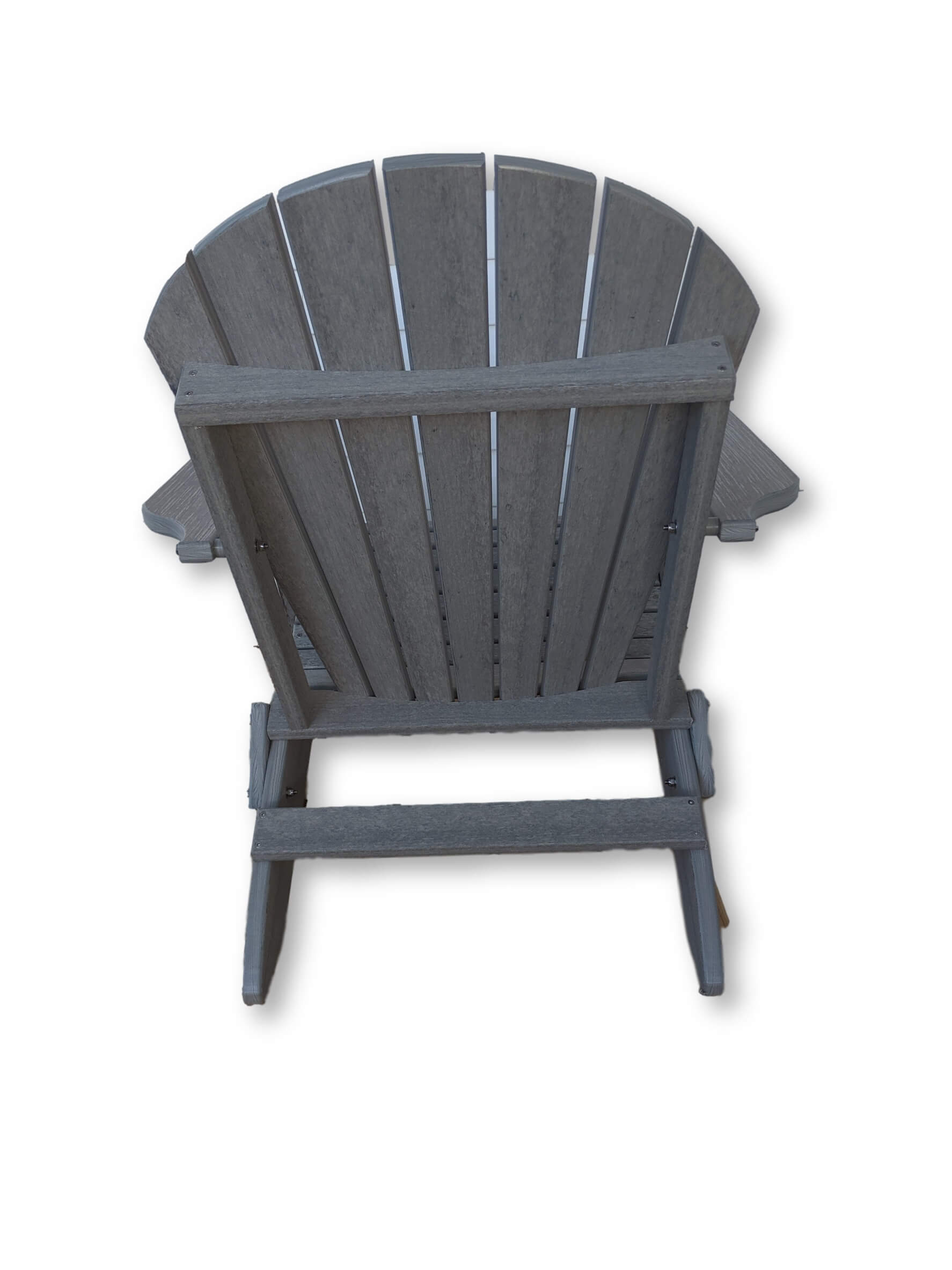 DriftWood Gray Folding Adirondack Chair(No Cup Holders)
